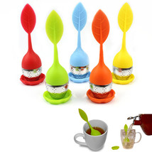1 Pc Food-grade Silicone  Stainless Steel Leaf ... - $9.23