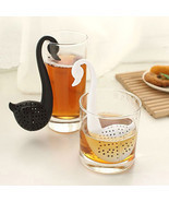 Creative Colander Black White Swan Tea Strainer Nontoxic Tea Filter Dail... - $9.26