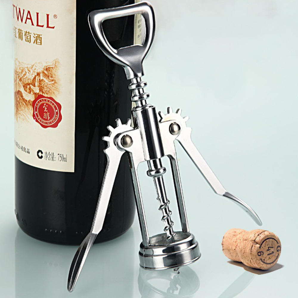 1pc Stainless Steel Wing Red Wine Corkscrew Beer Bottle