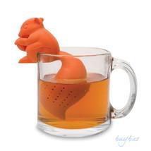 Squirrel Shape Tea Infuser Loose Leaf Strainer Bag Mug Filter Friends Ap... - $11.48