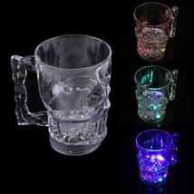LED Glowing Skull Shape Water Inductive Glowing Wine Beer Cola Cup Mug  - $11.71