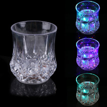 LED Glowing Mug Water liquid Inductive Light-up Drink Wine Glass Cup hv5n - $12.10