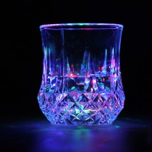 1Pc LED Flashing Glowing Water Liquid Activated Light-up Wine Glass Cup ... - $12.28