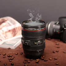 Coffee Lens Emulation Camera Mug Cup Beer Cup Wine Cup With Lid Black Pl... - $12.38