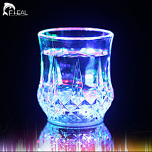 Beer Cup LED Inductive Rainbow Color Flashing Light Glow Mug Drink Club ... - $17.69