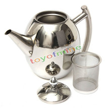 1000ML Stainless Steel Teapot Coffee Sliver Cold Water Pot Kettle With L... - $25.40