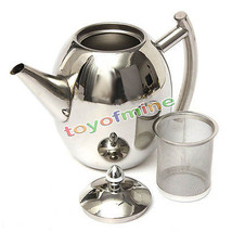 1500ML Stainless Steel Teapot Coffee Sliver Col... - $26.75