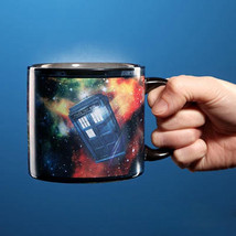 1Piece Doctor Who Disappearing Tardis Police Box Heat Changing Coffee Mu... - $46.98