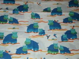 "Rainbow Rascals Hoffman California fabric Hippopotamus 35"" Long - $16.95"