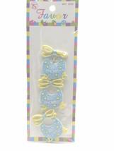 12 Flexible Pink Blue Bib baby shower favors appliques - 4 pk of 3 image 2