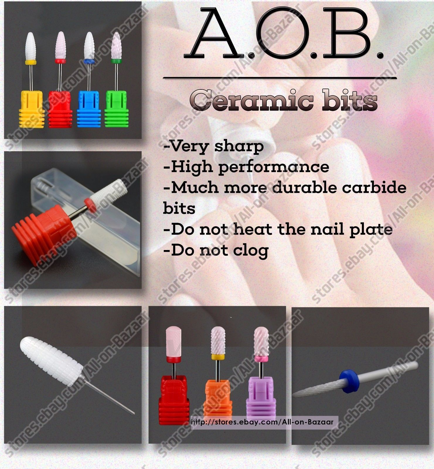 Primary image for Electric Nail Drill Ceramic BITS Fresas Burs for Pedicure and manicure