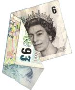 x10 Crumpled £5 Fiver vinyl joke sticker stag hen doo silly humour money € - $12.00