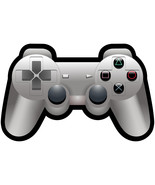 Playstation controller vinyl shaped decal sticker 140mm x 90mm Xbox game... - $3.35