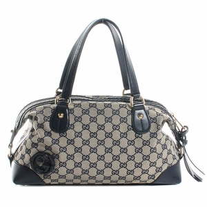 Gucci 296898 Gucci Brick Lane Boston Bag Navy