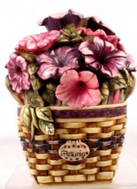 Longaberger Harmony Kingdom Limited Exclusive Petunia Basket - $64.00