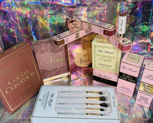 Huge Lot New In Box Too Faced Born This Way Sugar Peach Cocoa Contour Diamond