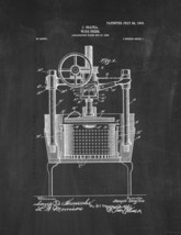 Wine Press Patent Print - Chalkboard - $7.95+