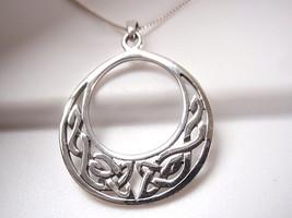 Celtic Weave Circle in Circle Pendant 925 Sterling Silver Corona Sun Jewelry - $15.83