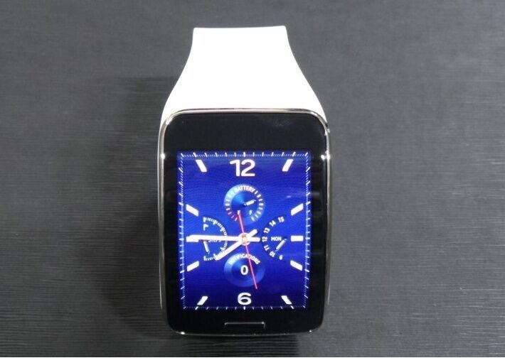 Genuine Samsung Galaxy gear S SM-R750 Curved AMOLED Smart Watch White Used