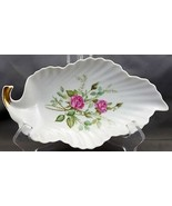 "Mitterteich Old Dresden Rose Leaf Shaped Dish 8-1/2"" - $14.11"