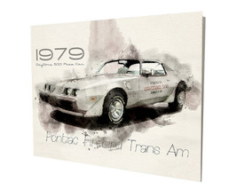 1979 Pontiac Trans Am Daytona 500 Pace Car Design 16x20 Aluminum Wall Art - $59.35