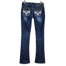 Hydraulic Lola Curvy Boot Leg Jeans Women's Dark Wash Blue Denim Junior 1/2 - $26.72