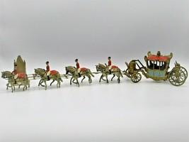 Britains Ltd Coronation Queen Elizabeth 8 Horses Riders Gold Carriage VTG 1953 - $125.59