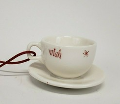 Starbucks Holidays 2005 Coffee Mini Tea Cup Christmas Tree Ornament ceramic - $9.00