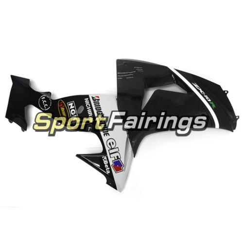 ABS Plastic White Black Fairing For Kawasaki 2006 2007 ZX10R ZX1000D Body Frames