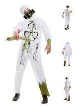 Adult Unisex Biohazard Hazmat Suit with Hooded Jumpsuit & Face Mask - Party Fun - $35.35