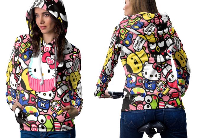 Hello Kitty 2 Hoodie Zipper Women - $60.99 - $70.99