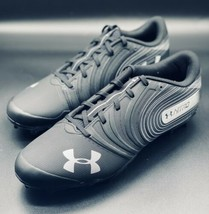NEW Under Armour Nitro Low Black Football Cleats Shoes 3000182-001 Size 12 - $29.69