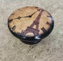 """Handcrafted Eiffel Tower Clock Knobs, 1.5"""" Cabinet Knob, Paris Dresser K... - $6.44"""