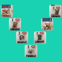Dog Magnet I Heart Love My Car Decor magnet In Puppy waterproof & cute - $7.91+