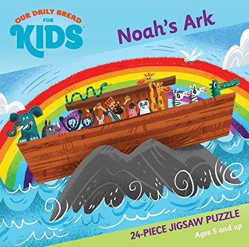 Noah's Ark 24-Piece Jigsaw Puzzle [Board book] Flowers, Luke