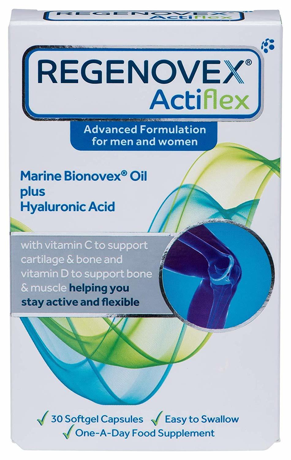 Primary image for Regenovex Actiflex Marine Bionovex Oil Plus Hyaluronic Acid, 30 Caps [BB 12/22]