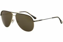 Tom Ford Erin TF466 Tf / 466 40k Braun / Rotgold Mode Piloten Sonnenbril... - $227.68