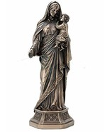 "11.5"" Mary Holding Infant Jesus Statue Maria con Jesus Sculpture Catholic Decor - $59.85"