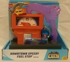Mattel Hot Wheels City Downtown Speedy Fuel Stop Play Set FMY97 - $14.80