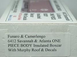 Funaro & Camerlengo HO Savannah & Atlanta ONE PIECE BODY Boxcar Kit 6412 image 3
