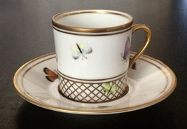 ALBERTO PINTO Limoges coffee cup & saucer set F... - $224.40