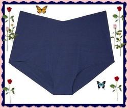 L Large Navy Blue NO SHOW Seamless Victorias Secret High Waist Brief Pantie - $9.99