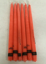 vintage 12 inch taper style candle standtite base lenox brand 6 orange c... - $19.75