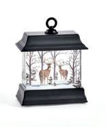 "4.5"" Black led Water Lantern Woodland Scene with Glitter and Light Up Fe... - $29.69"