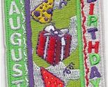 Cub Girl Boy AUGUST BIRTHDAY Embroidered Iron-On Fun Patch Crests Badge Scout Gu
