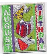 Cub Girl Boy AUGUST BIRTHDAY Embroidered Iron-On Fun Patch Crests Badge ... - £3.62 GBP