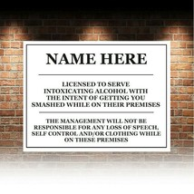 personalised fUNNY Bar Sign Metal Tin sign plaque man cave shed garage h... - $6.60