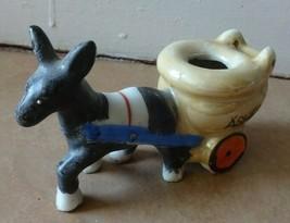 Vintage Ceramic Donkey & Cart Toothpick Holder Planter JAPAN - $5.45