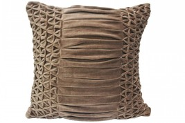 Smocking n Pleat Brown Cushion Cover pillow case - $25.00