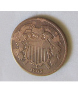 2 Cent US Penny 1865  - $29.99